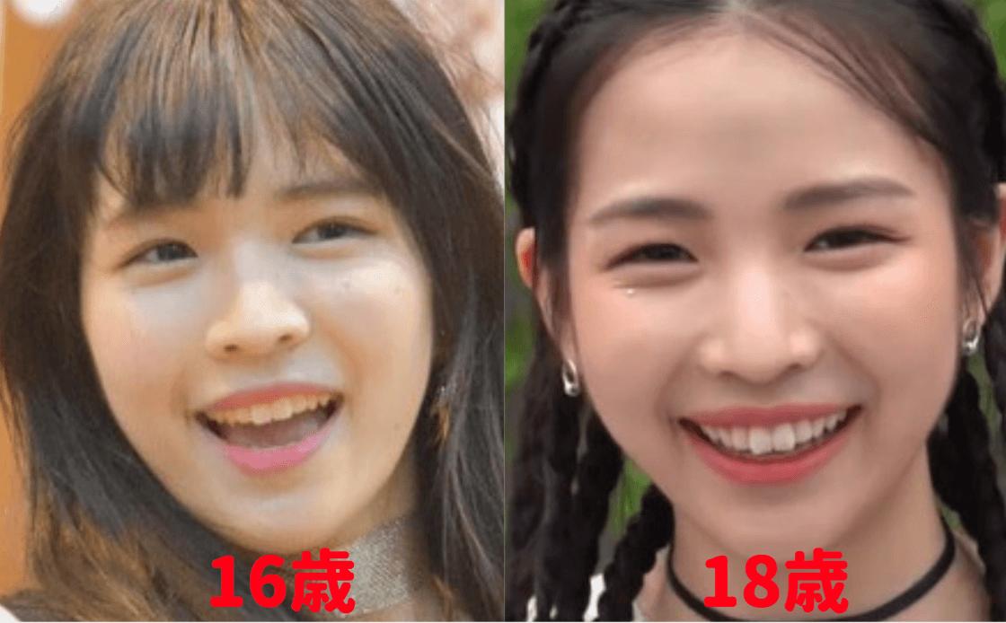 マヤの顔の変化