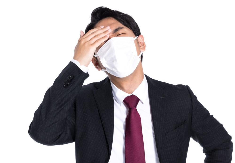 インフルエンザにかかった男性