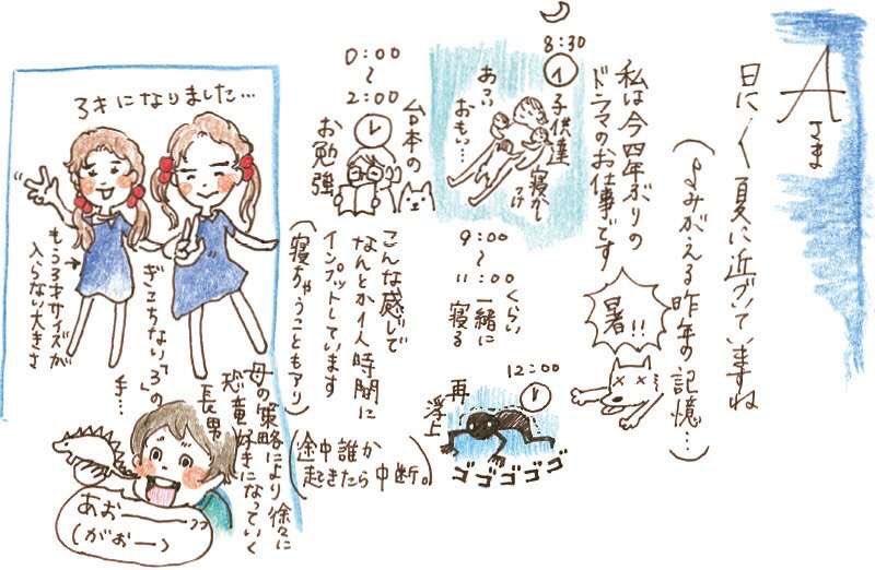 杏の育児イラスト