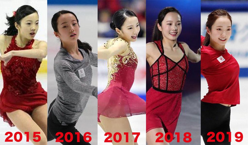 本田真凜のスタイルの成長