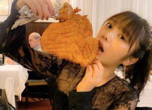 与田祐希の食べ方