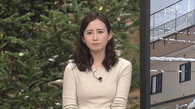 森川夕貴アナのニット胸