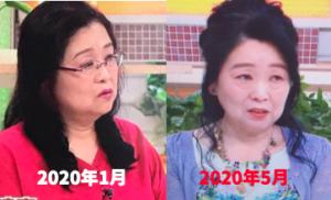 岡田晴恵の体型の変化
