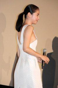 長澤まさみのドレス姿