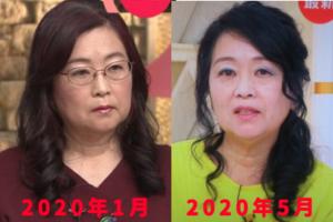 岡田晴恵のメイク・髪型の変化