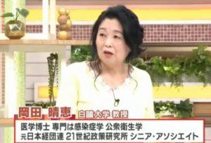 岡田晴恵の黄色い衣装