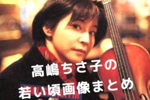 高嶋ちさ子の若い頃