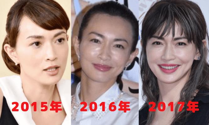 長谷川京子の顔を3つ比較