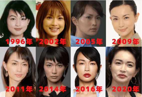 長谷川京子の顔を8つ比較