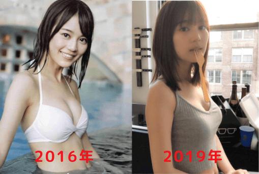 生田絵梨花の豊胸比較