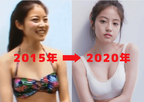 今田美桜の胸の大きさを比較