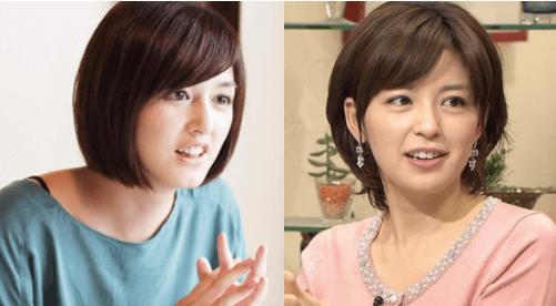 小松美羽と中野美奈子アナが似てる