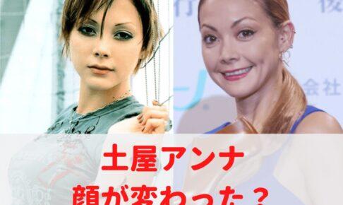 土屋アンナの顔が変わった